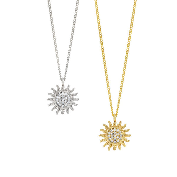 Shining sun necklace