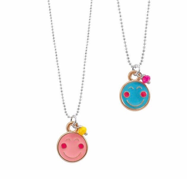 Happy face neon necklace