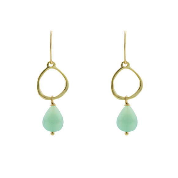 Gold seafoam earrings