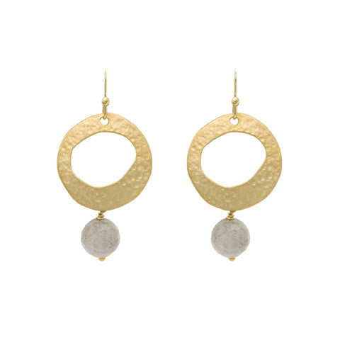 Gold Etruscan earrings