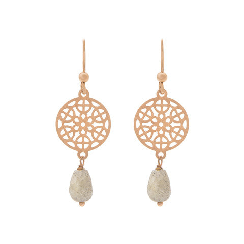 Rose gold mosaic earrings