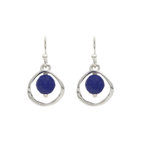 Silver bluebell earrings