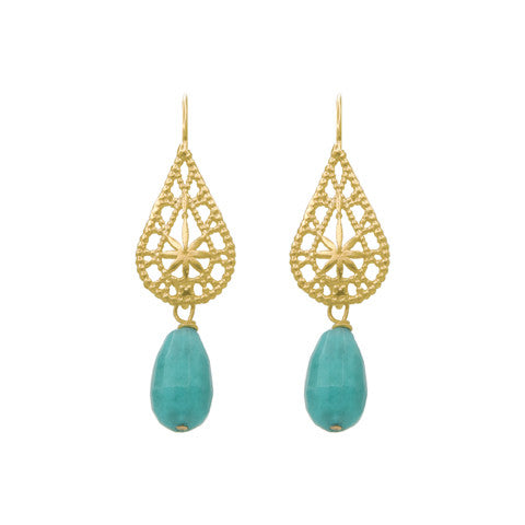Emerald sea earrings