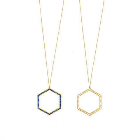 Hexagon sparkle pendant