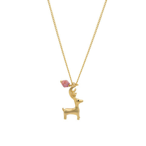Christmas reindeer necklace
