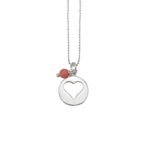 Sterling silver Lucky heart necklace