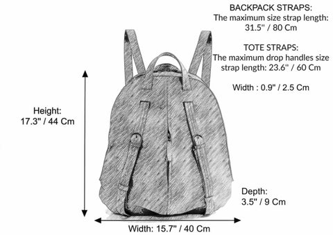 Women Leather Backpack - Leather book bag - Backpack Purse - School backpack - Leather Bag - Fashion Bag