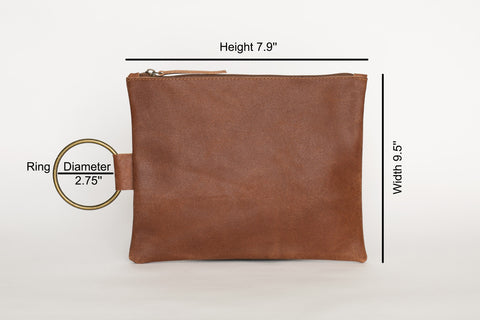 soft leather clutch,  brown leather clutch,  small leather clutch, leather purse,  wristlet purse,  leather clutch.