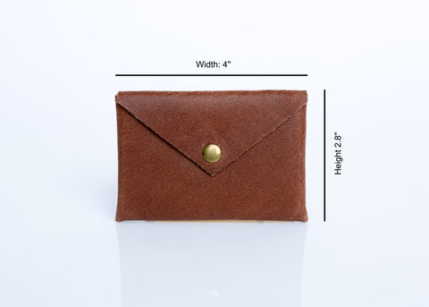 Leather Card Holder - Handmade Leather Card Wallet - Leather Business Card Holder - Card Case - Leather Card Case