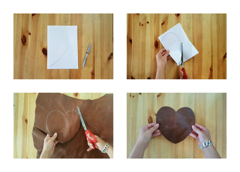mayko bags - leather touchpad - Valentine's Day Handmade craft