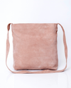 Crossbody Bag For Women, Suede Bag with Magnetic/Zipper Closer, Lightweight Leather Bag, Leather Gifts, gift for her, Pink leather bag, ||BlushPink||