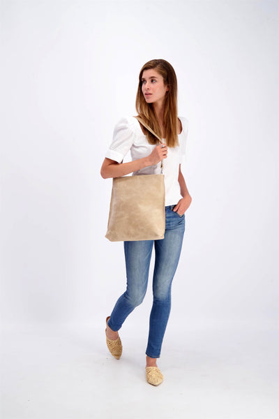 Leather Tote Bag, Convertible Bag, Leather Bag, Leather Zipper Tote Bag, Foldover Crossbody Bag, Woman Leather Purse, Leather Purse, Leather Pouch, woman's Bag, Woman's Purse, Handmade Bag, Leather Purse, Leather Tote, Multi-Purpose Bag, Casual Bag, beige leather bag ||Stone||