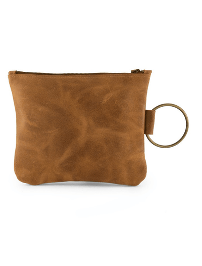 brown  Leather Clutch, Leather Wristlet, Leather Clutch with Bracelet Handle, Soft Leather, Clutch Purse, Evening Bag, Wristlet Leather Bag ||Brown||