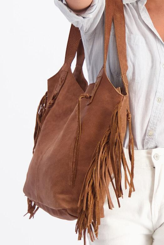 Fringe leather tote bag | You're in the best place to learn what is a tote bag! get your's now! - Mayko Bags