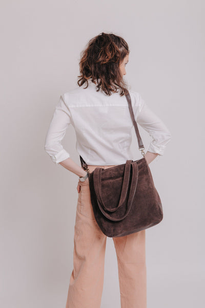 how to wear a crossbody bag, bags and handbags, what is crossbody bag, convertible handbag and backpack,  ladies crossover body bags, handbag cross, cross body large handbags, medium sized crossbody handbags,  convertible crossbody tote bag, cross over bags women, Crossbody leather bag, Leather Suede Bag, Small Crossbody Bag, Evening Bag , mayko bags  ||Brown||