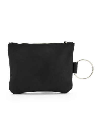 black  Leather Clutch, Leather Wristlet, Leather Clutch with Bracelet Handle, Soft Leather, Clutch Purse, Evening Bag, Wristlet Leather Bag ||Black||