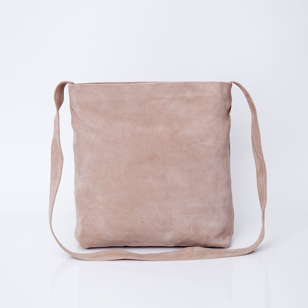 Very Suede Leather Tote, Crossbody Bag, Women Bag, Lightweight Leather  QY12