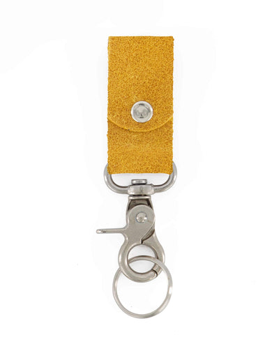 key holder, keychain, leather accessories, leather keychain, leather gift, small gift, gift for him, gift for her, keychains, leather key ring, key chain, yellow leather gift, ||Mustard||