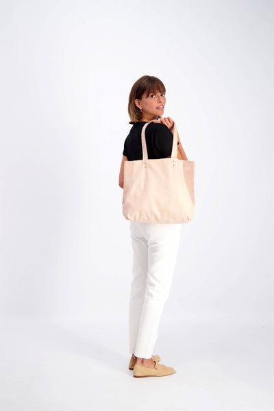 Leather Bag, Nude Leather Tote Bag, Soft Leather Bag, Tote Bag, Women Bag, Handmade Leather Purse, Nude Leather Bag, Shoulder Bag