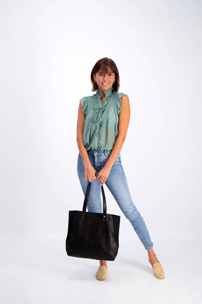 Black Leather Tote, Soft leather Bag, Leather Shoulder Bag, Leather Tote Bag For Women,