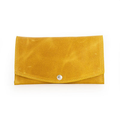 Leather Wallet, Woman Wallet, Small Purse, Leather Gift for Her, Leather Wallet Women's, Clutch Wallet, Minimalist Wallet, Wallet Women, yellow leather wallet  ||Mustard||