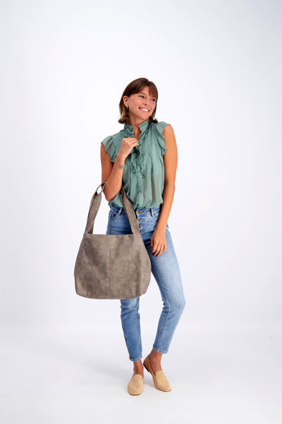 Tote Bag, Shoulder Bag, Vegan Leather Bag, Fabric Tote, Work Bag, Vegan Leather Tote ,Vegan Purse, Women Bag ,Shoulder Bag, Tote Bag, Vegan Tote, Vegan Bag, Sustainable Bag, Sustainable Tote, Woman's Bag, Woman's Tote, Handmade Bag ||DistressedGray||
