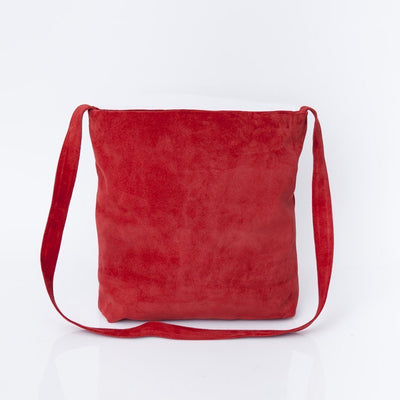 Red Bag, Red Crossbody Bag, Crossbody Bag For Women, Suede Bag with Magnetic/Zipper Closer, Lightweight Leather Bag, Leather Gifts, gift for her, ||RedSuede||