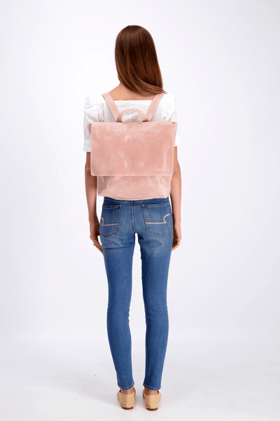 Woman Leather Backpack, Woman Backpack, Laptop Backpack, Backpack, Leather Backpack, Large Backpack, Mayko, Pink Backpack, Pink Leather Backpack, Handmade Backpack, Handcrafted, Minimalistic Design, Everyday Bag ||Pink||