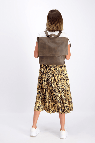 Backpack, Brown Leather Bag, Backpack Purse, Small Leather Bag, Back Bag, Personalized Leather Bag, Leather Backpack, Backpack Woman, MAYKO ||Chocolate||