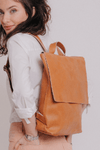 Leather Backpack Women | Large Backpack Women Personalized Leather Gift Women | Laptop Bag | Minimalist Backpack | Leather Back Pack | Bag ||Camel||