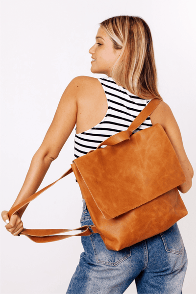 Backpack, Laptop Bag, Back Bag, Personalized Leather Bag, Backpack Purse, Beige Leather Bag, Book Bag, Rucksack, Large leather bag, Work Bag ||Camel||