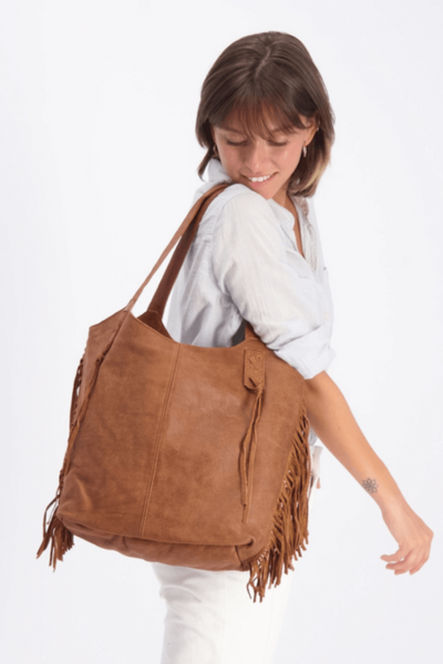 woman leather bag, tote bag, shoulder bag, leather tote, leather tote bag, soft leather bag, women leather bag, handbag, leather purse, work bag, office bag, fringe bag, bohemian bag, bohemian chic, ||Caramel||