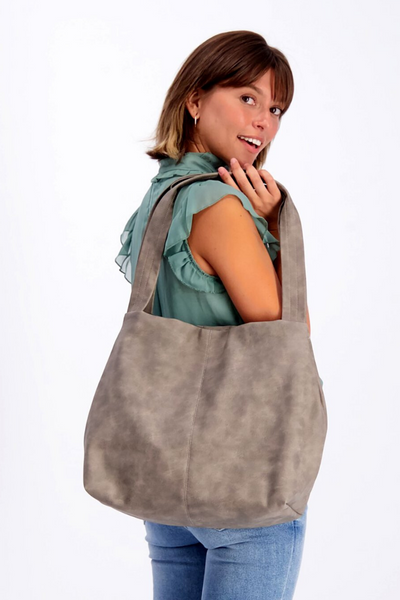 Vegan Leather Tote ,Vegan Purse, Women Bag ,Shoulder Bag, Tote Bag, Vegan Tote, Vegan Bag, Sustainable Bag, Sustainable Tote, Woman's Bag, Woman's Tote, Handmade Bag, Everyday Bag, Work Bag, Student Bag || DistressedGray||