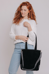 how to wear a crossbody bag, bags and handbags, what is crossbody bag, convertible handbag and backpack,  ladies crossover body bags, handbag cross, cross body large handbags, medium sized crossbody handbags,  convertible crossbody tote bag, cross over bags women, Crossbody leather bag, Leather Suede Bag, Small Crossbody Bag, Evening Bag , mayko bags  ||Black||