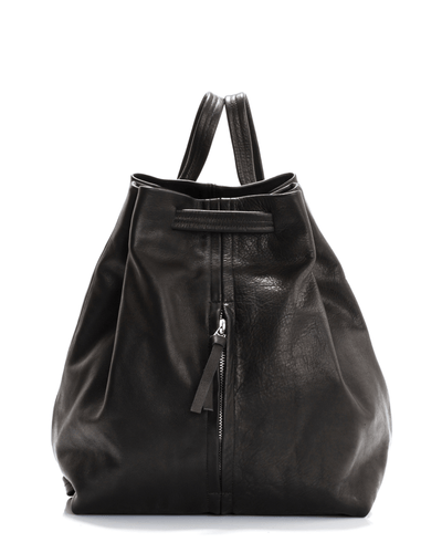 Women Leather Backpack, BLACK Leather Backpack, Laptop Backpack,  for Women, DRAWSTRING LEATHER  Backpack,Large Leather Backpack  ||Black||