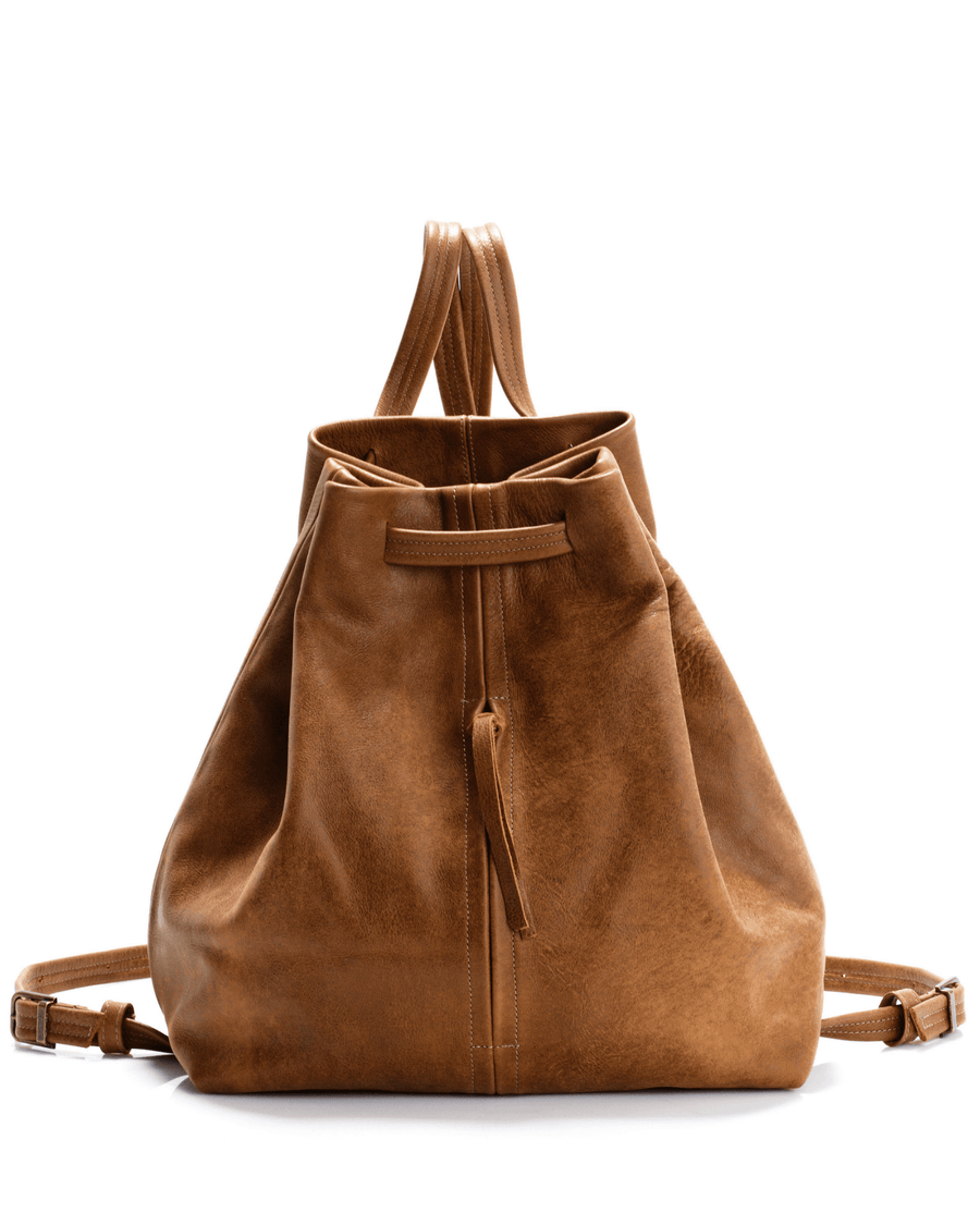 Women Leather Backpack, BROWN Leather Backpack, Laptop Backpack,  for Women, DRAWSTRING LEATHER  Backpack,Large Leather Backpack ||Brown||