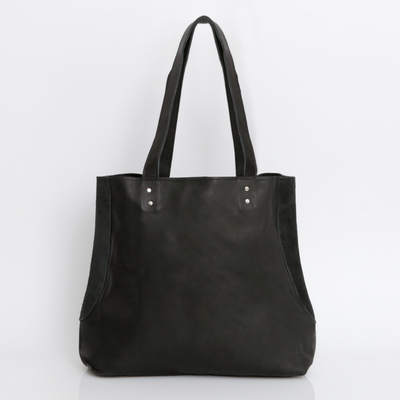 Black Leather Tote, Leather Bag, Leather Tote Bag, Leather Purse, Leather Handbag, Women's Bag, Women's Handbag, Everyday Bag, Italian Leather ||BlackTote||
