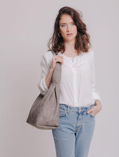 Vegan Leather Tote ,Vegan Purse, Women Bag ,Shoulder Bag, Tote Bag, Vegan Tote, Vegan Bag, Sustainable Bag, Sustainable Tote, Woman's Bag, Woman's Tote, Handmade Bag ||DistressedGray||