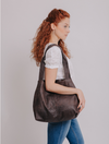 Vegan Leather Tote ,Vegan Purse, Women Bag ,Shoulder Bag, Tote Bag, Vegan Tote, Vegan Bag, Sustainable Bag, Sustainable Tote, Woman's Bag, Woman's Tote, Handmade Bag ||DistressedBrown||
