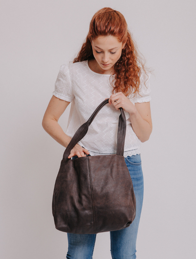 Tote Bag, Shoulder Bag, Vegan Leather Bag, Fabric Tote, Work Bag, Vegan Leather Tote ,Vegan Purse, Women Bag ,Shoulder Bag, Tote Bag, Vegan Tote, Vegan Bag, Sustainable Bag, Sustainable Tote, Woman's Bag, Woman's Tote, Handmade Bag ||DistressedBrown||