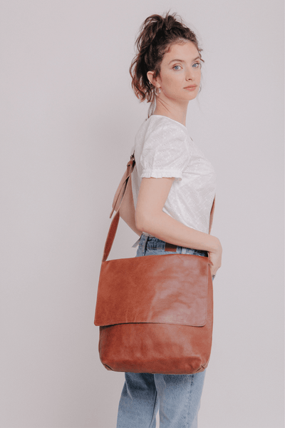 Leather Messenger Bag | Black Leather Cross body Bag | Leather Satchel | Leather Laptop Bag | Leather Shoulder Bag | Minimalist Leather Bag ||Cinnamon||