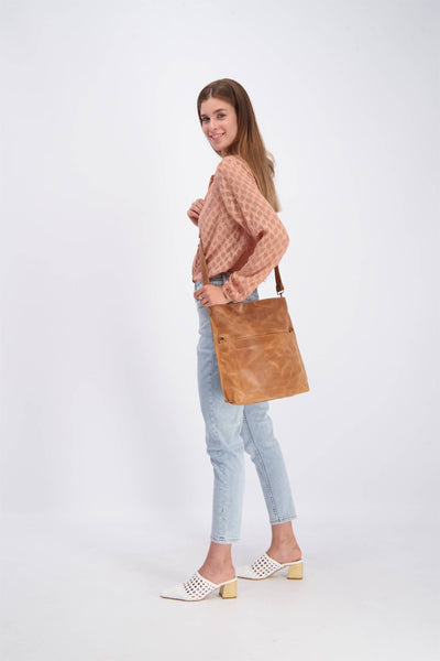 convertible bag, leather tote, tote bag, woman leather bag, crossbody purse, laptop bag, handbag, fold over bag, crossbody tote, tote bag with zipper, laptop tote, leather crossbody, cross body, brown leather bag ||Brown||
