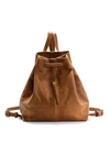 SOFT LEATHER Drawstring Backpack - Mayko Bags