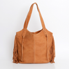Tote Bag, Bags and Handbags, Big Leather Tote, Big Bag, Big Tote Bag , Big Handbag, Fringe Bag, Fringe Tote, Woman Purse, Woman's Handbag, Woman's Bag, Travel Bag, Work Bag, Student Bag, Everyday Bag, Camel leather bag, ||Camel||