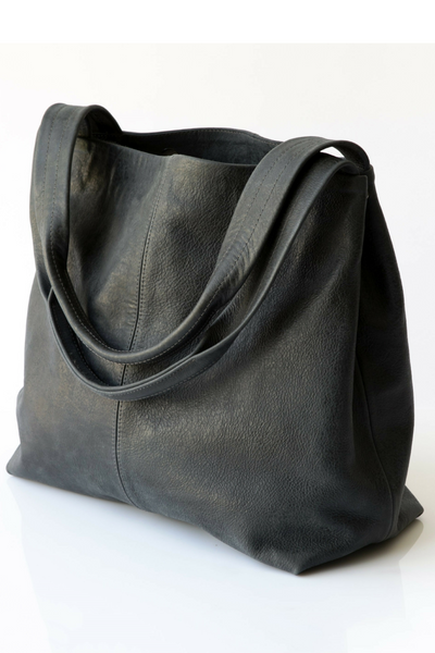 Leather Tote Bag, Oversized Bag, Leather Bag, Women's Bag, Tote Bag, Women's Tote Bag, Women's Handbag, Gray Handbag, Work Bag, Everyday Bag ||charcoalGray||