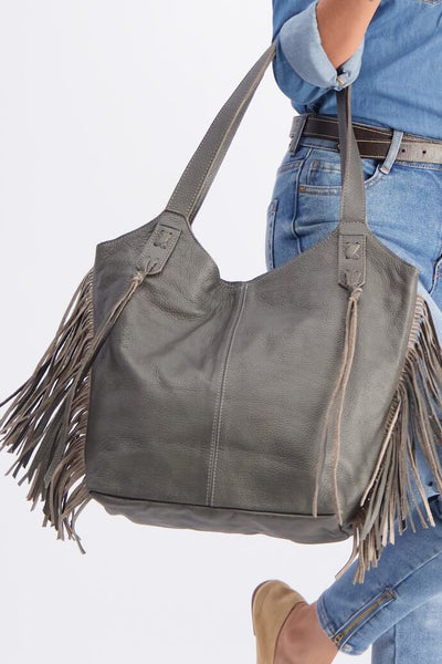 Tote Bag, Bags and Handbags, Big Leather Tote, Big Bag, Big Tote Bag , Big Handbag, Fringe Bag, Fringe Tote, Woman Purse, Woman's Handbag, Woman's Bag, Travel Bag, Work Bag, Student Bag, Everyday Bag, Leather Tote, Leather Bag, Soft Leather Bag, Bag, Tote, Gray leather bag, ||Gray||