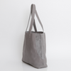 gray leather tote, tote bag, handbag, leather bag, shoulder bag, leather tote bag, tote bag with zipper, handmade bag, woman leather bag, soft leather bag ||GrayTote||