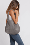 Leather Bag, Gray Leather Bag, Leather Tote , Women Leather Bag, Soft Leather Bag, Tote Bag, Women Bag, Large Leather Bag, Laptop Bag Tote