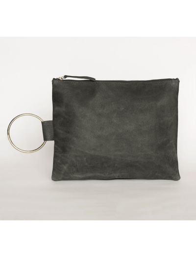 Clutch, Leather Clutch, Women's Clutch ||Gray||