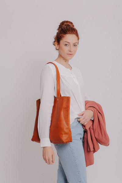 Caramel Leather Bag , Leather Tote Bag, Soft Leather Bag, Tote Bag, Women Bag, Caramel Bag, Shoulder Bag